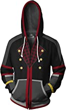 Obtai Sora Xemnas Roxas Kairi Hoodie Sweatshirt Costume 3D Print Zip Up Jacket Coat Unisex