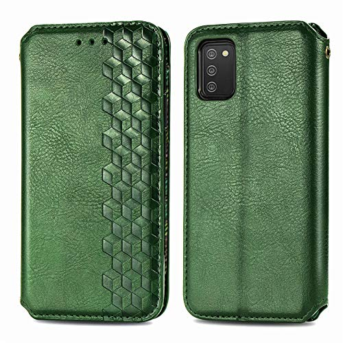 Leather Wallet Case for Galaxy A20S PU Leather Magnetic Flip Cover with Card Slots Holders Bookstyle Wallet Case for Samsung Galaxy A20S - JESD080091 Green