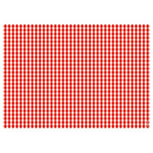 corpus delicti :: Papier-Tischsets – Platzdeckchen als Abreißblock mit Aufdruck Karomuster rot/weiß/kariert – Vichy ROT