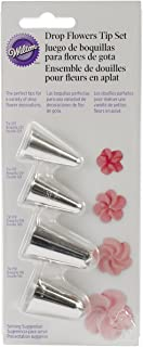 Drop Flower Decorating Piping Tip Set, 4 piece set
