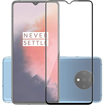 POPIO Edge to Edge Full Screen Coverage Tempered Glass Screen Protector for OnePlus 7T with Installation Kit (Black)