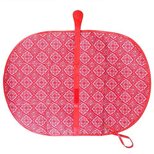 DERCLIVE - Funda para pañales de bebé, portátil, para mesa de viaje, plegable, color rojo y gris