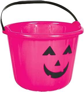 Hot Pink Plastic Pumpkin Bucket
