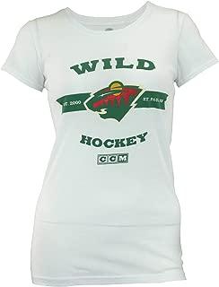 NHL Women's Minnesota Wild Raise The Banners Cap Sleeve Tee