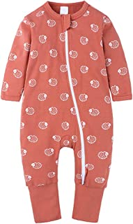 Fulision Newborn Baby Fashion Zipper Long Sleeve Printing Pattern Autumn Winter Rompers Jumpsuit