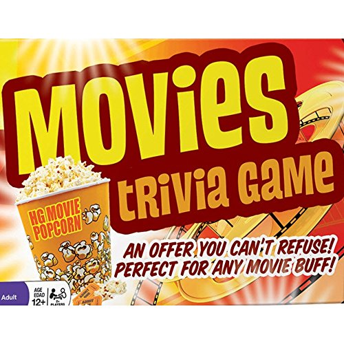 Movies Trivia Game - Fun Cinema Question Based Game Featuring 1200 Trivia Questions - Ages 12+