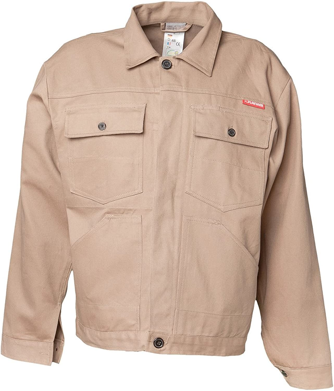 Planam 151058 BW 290  Waisted Jacket, 58, Beige