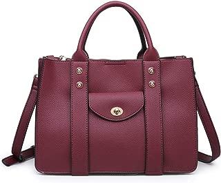 Women's Stylish Rockefeller Satchel, Handbag, Assorted Colors