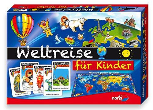 Noris 606013599 - Kinder Weltreise, Kinderspiel