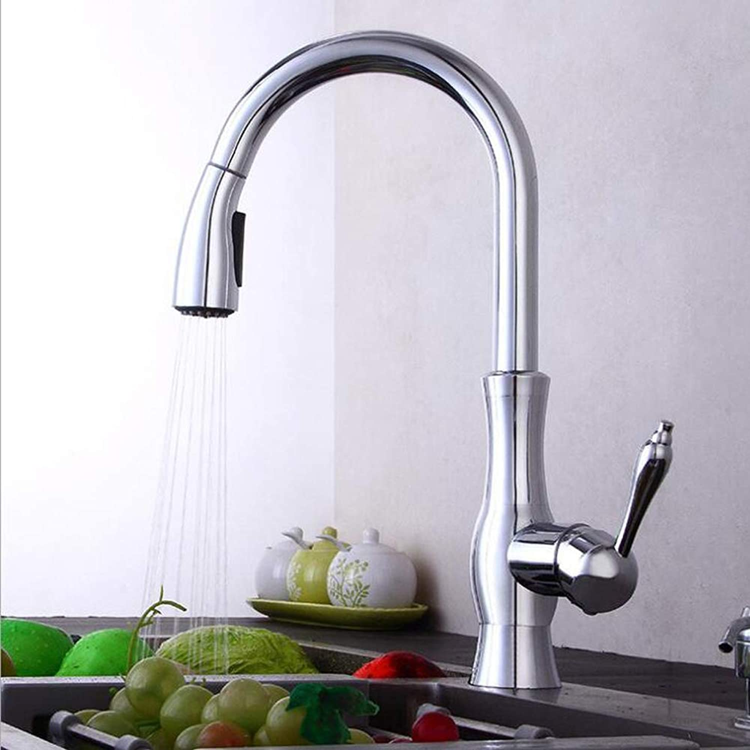 Single Handle Kitchen Faucet,Modern Kitchen Sink Faucets,360° redating hot and Cold Water is Easy Control of Water temperatu.