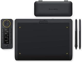 XENCELABS ペンタブレット 板タブ ショートカットキーリモート付き ペンタブ 超薄型8mm 傾き検知機能 8192筆圧レベル 12インチデジタルアートパッド ワイヤレスサポート バッテリー不要ペン2本付き Windows Mac Lin...