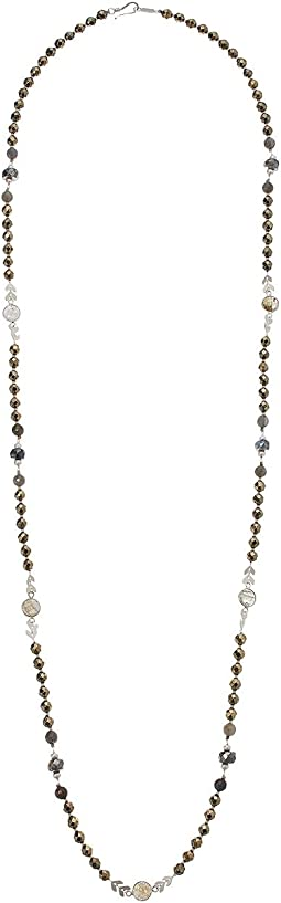 Chan Luu - Layering Necklace with Semi Precious Beads and Chevron Accents