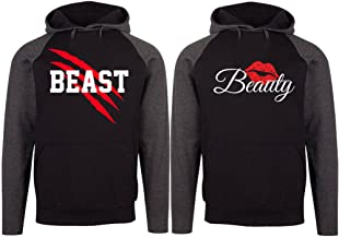 SR New Beast and Beauty - Couple Matching Hoodie - His and Her Sweatshirt