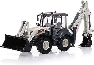 ELVVT 1:50 Mini Alloy Diecast Excavator Vehicle Toy 4 Wheel Car Two-Way Forklift Bulldozer Backhoe Loader Truck Model for Kids Christmas Birthday Gift