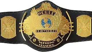 WWE Classic Gold Winged Eagle Championship Replica Belt Adult Size Title Belt Metal Plate