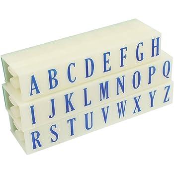 uxcell アルファベットスタンプ グリーン ラバーヘッド A-Z 英語文字 26個入り