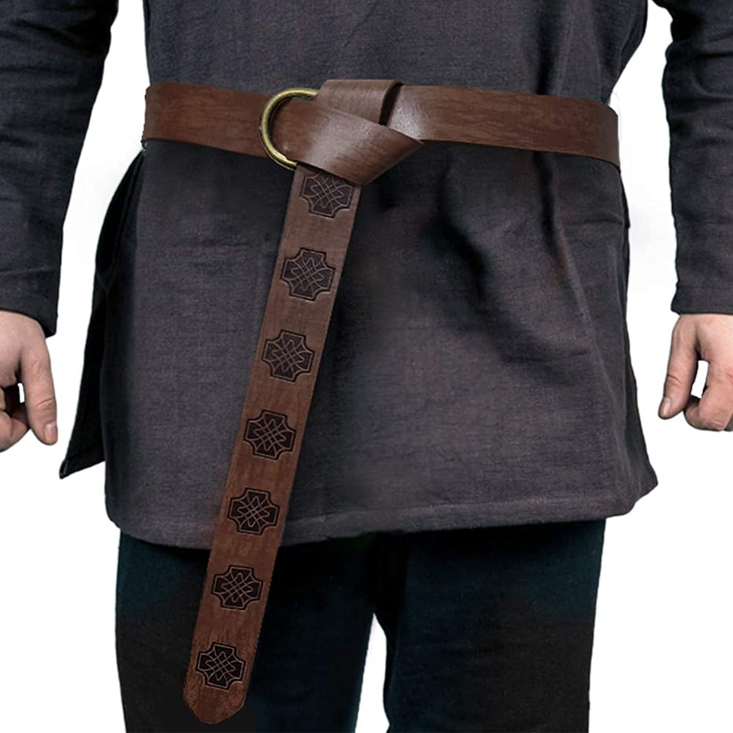 Medieval Viking Belt for Men Embossed O Leather Max 63% OFF New popularity PU Ret Ring
