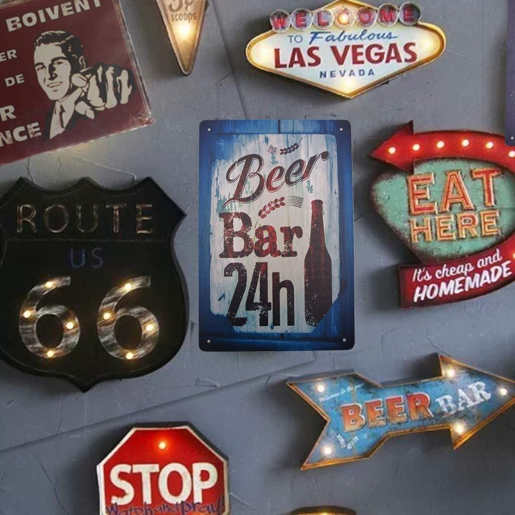 AIQIBAO Metal Vintage Tin Sign Decor-Beer for Bar Pub Shop Funny Retro Art Sign 12 X 8