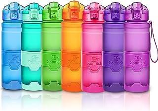 Sports Water Bottle 32oz/1L,24oz,16oz,14oz, Non Toxic BPA Free Eco-Friendly Tritan Reusable Bottle, Leak Proof Kid/Adult Drink Bottle with Filter for Fitness Gym, Lockable Flip Top One Click Open Lid
