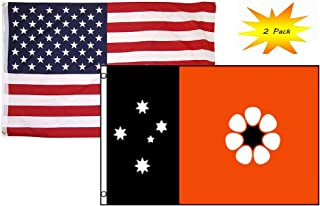 3x5 3'x5' Wholesale Set (2 Pack) USA American & Northern Australia Flag Banner Fade Resistant Double Stitched Premium Penant House Banner Grommets