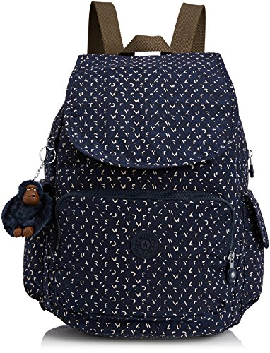 Kipling City Pack, Mochilas para Mujer, Varios Colores (Letter Print H58), 32x37x18.5 cm