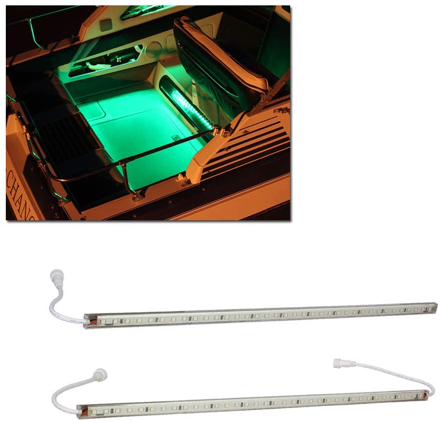 LEDGlow 2pc Sales Over item handling Green LED Boat Marine Acce Deck Gunnel Cabin Under