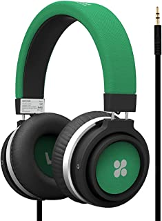 Promate Over-Ear Wired Headphone Microphone Built-in Cable Length 150 cm Green, Clear (6959144025209)