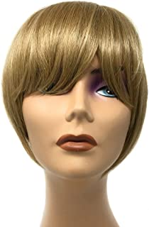 Hair Etc. One Piece Clip In Bangs - Real Natural Human Hair Blend Extension For Women Color (#24/16 Golden Blonde)