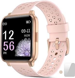 Smartwatch, Reloj Inteligente Mujer Impermeable IP68 con Pulsómetro, Cronómetros,Calorías,Monitor de Sueño,Podómetro Pulse...