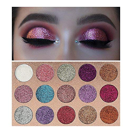 Beauty Glazed Glitter Eyeshadow Palette, 15 Colors