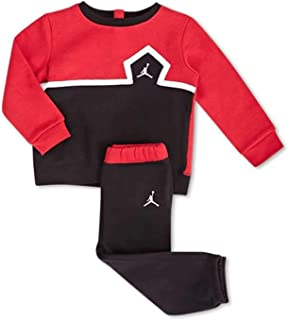 Jordan Jumpman Infant Boys Sweatsuit Black/Gym Red 18 Months