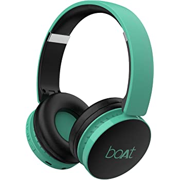 boAt Rockerz 370 Wireless Headphone with Bluetooth 5.0, Immersive Audio, Lightweight Ergonomic Design, Cosy Padded Earcups and Up to 8H Playback Bliss (Gregarious Green)
