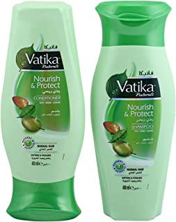 Vatika Nourish and Protect Shampoo and Conditioner Value Pack