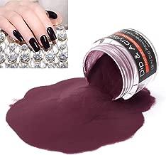 2 In 1 Nail Dip Powder & Acrylic Powder Dark Universe (Added Vitamin Calcium) I.B.N Dipping Powder Color 1 Ounce, Non-Toxic & Odor-Free, No Need Nail Lamp Dryer (042)