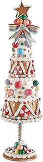 Raz Candy Gingerbread Design Christmas Tree Figurine, 13 1/2 Inch