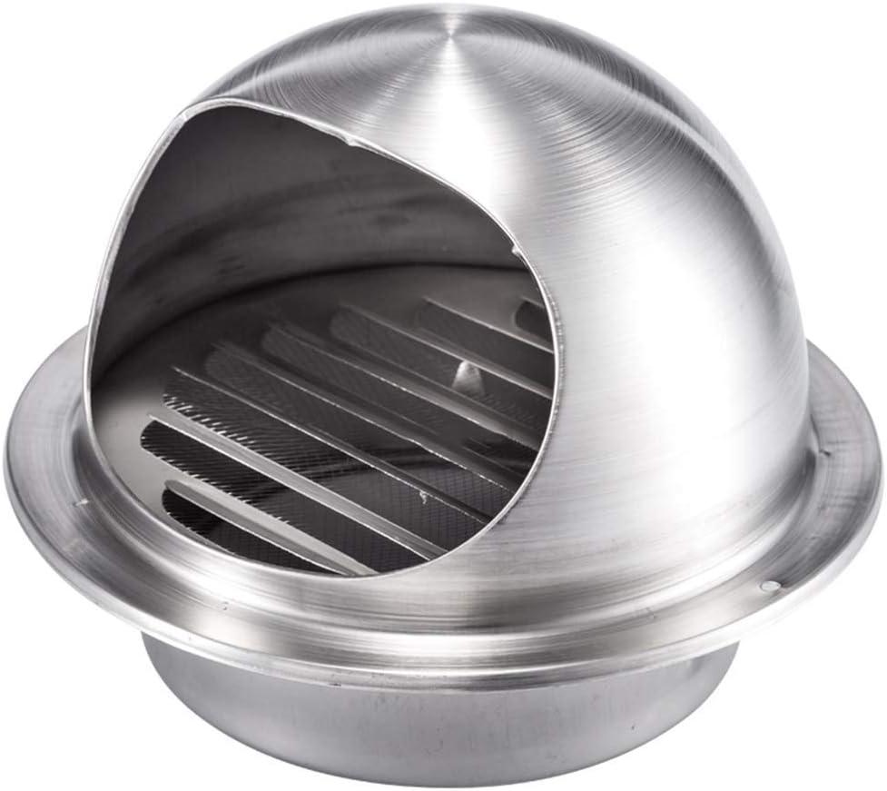 FZYE Tapa de Chimenea Tapa de Chimenea con Recubrimiento en Polvo Tapa de desagüe de Acero Inoxidable 304 Tapa de ventilación de Techo Tapa de Rejilla de Lluvia Tapa a Prueba de Viento