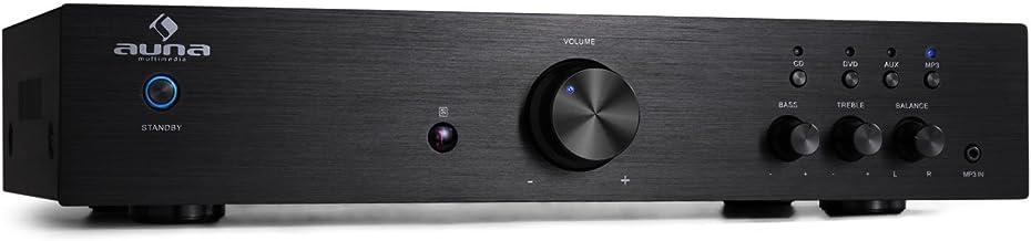 auna AV2-CD508, HiFi Audio-Verstärker, Stereo Endstufe, max. 600 Watt, 2-Band-Equalizer,..