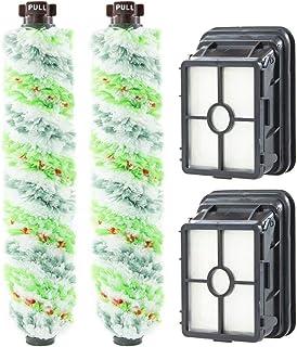 rodillo de cepillo de limpieza compatible con Bissell 17132 y 2225N Series verde filtro de repuesto para aspiradora Crosswave Bissell Accesorios para Bissell Crosswave cepillo de rodillo