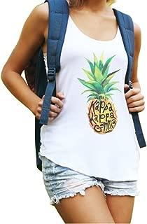 Kappa Kappa Gamma Muscle Cotton Modal Pineapple Tank Top