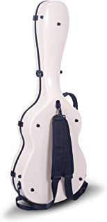Crossrock CRF1000CIV Fiberglass Classical Guitar Case Hardshell- Backpack Style for 4/4 Full Size in Ivory