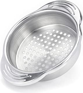 Tuna Strainer Press, WISH Tuna Can Strainer Food-Grade Stainless Steel Canning Colander for Regular-Size and Wide-Necked Tunas