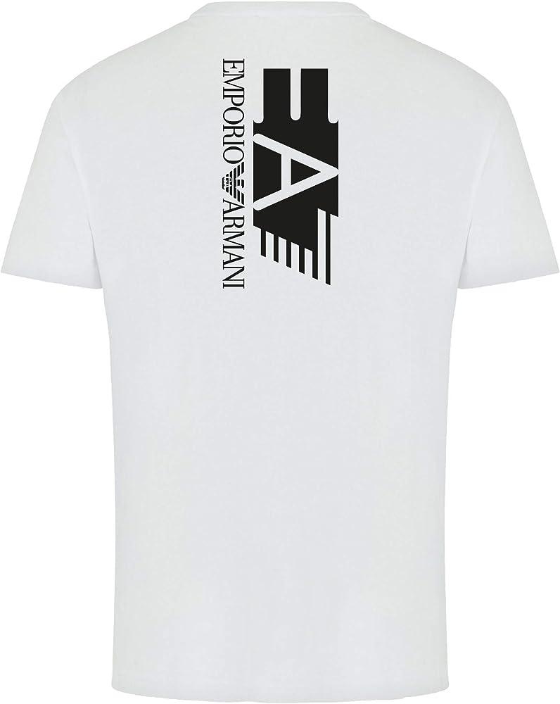 Emporio armani - maglietta da uomo ea7 manica corta girocollo 95% cotone 5% elastan 3HPT29 PJ6Z1