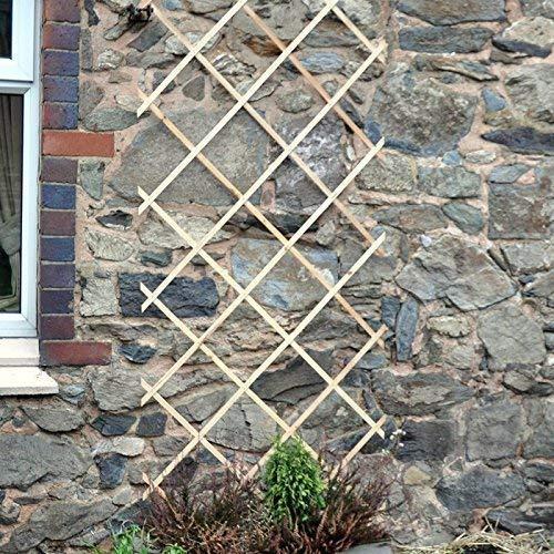 garden mile 3ft x 6ft Expanding Wooden Garden Trellis Robust Climbing Plant & Vegetable Support Natural Wood Garden Lattice Trellis (6ft x 3ft)