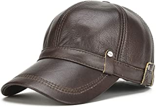 QinMei Zhou Autumn And Winter Leather Hat Men's Suede Leather Baseball Cap Men Outdoor Casual Leather Cap Male Cap