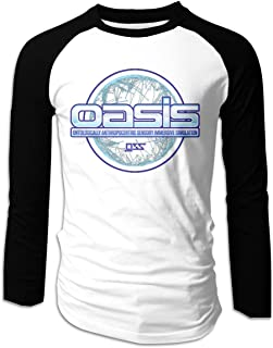 Eyscar Mens Logo of Ready Player One Scoreboard Cotton Baseball Raglan Long T Shirt