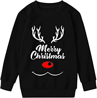 Camisas Hombre Mujer Pareja Unisex Feliz Navidad O-Cuello Casual Manga Larga Blusas Invierno Primavera Top 2021