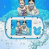 Fotocamera subacquea per bambini HD 1080P Fotocamera per bambini Impermeabile 18MP Schermo da 2,7 pollici Zoom digitale 8X Giocattoli Fotocamera Regalo con luce flash Ricaricabile