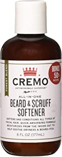 Cremo Beard and Scruff Softener, Forest Blend, 6 Ounce - Conditions Coarse Facial Hair of All Lengths, Delivering Touchably Soft Results in Just 30 Seconds