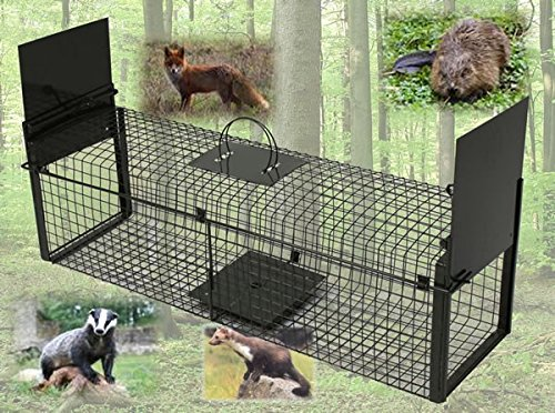 Lebendtierfalle - Tierfalle - Falle Doppeltüre 100 x 28 x 28 cm