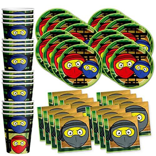 Ninja Master Birthday Party Supplies Set Plates Napkins Cups Tableware Kit for 16